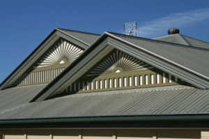 metal roofing on house