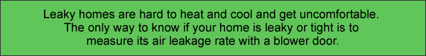 leaky homes and energy