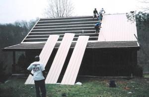 repair dips in metal roofs