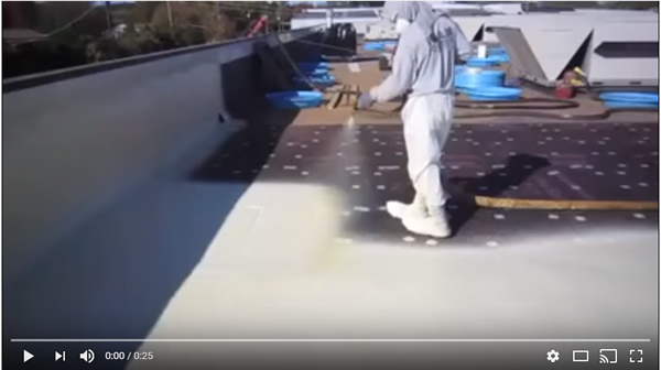 Spray Foam Roofs Are Created Using Special High Density Closed Cell Foam.  This Foam Is Considerably Less Dense Than Other Traditional Roofing  Materials And ...