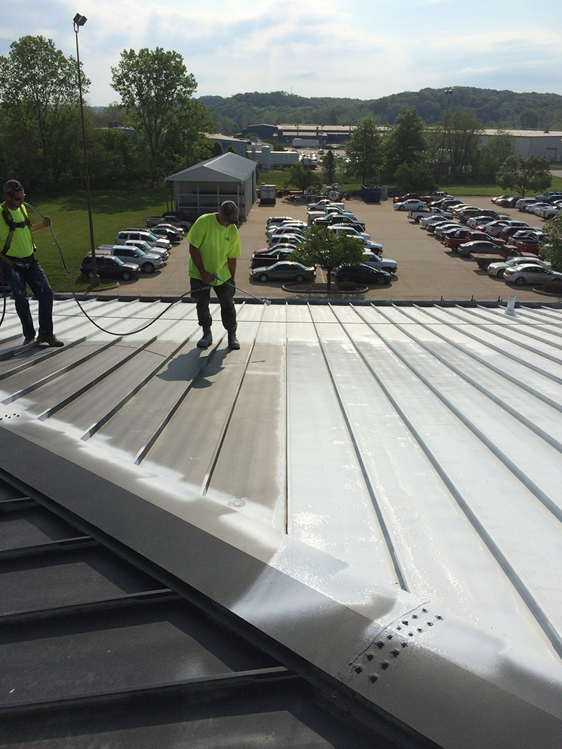 Silicone Coatings Can Be Applied To A Roofing System By Spraying Or Rolling  And Are Available In Many Colors. We Often Recommend The Bright White  Finish, ...